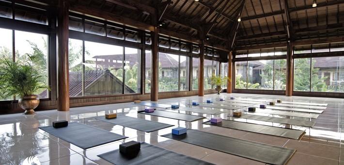 Hôtel Bhuwana Bali - salle de yoga - Zen&go