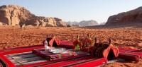 Bivouac dans le Wadi Rum en Jordanie