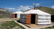 Camp de yourtes en Mongolie