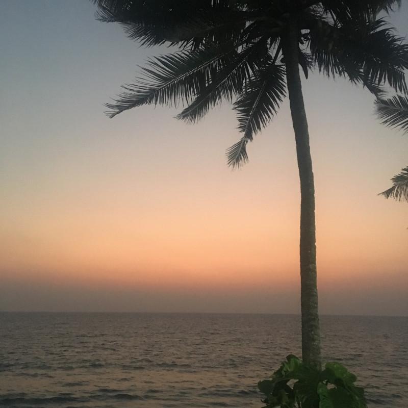 coucher de soleil - avant le dîner